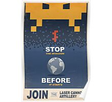 Join the Laser Canon Artillery Poster