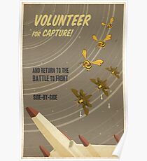 Volunteer for capture Poster