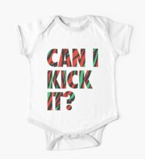 Just Kick It?  Short Sleeve Baby One-Piece