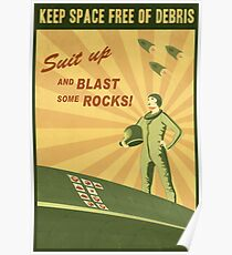 Keep Space Free of Debris Poster