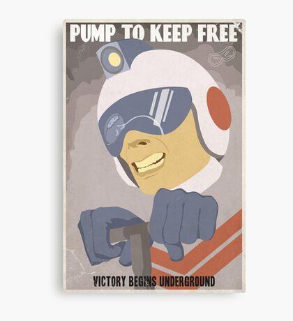 Pump to Keep Free Canvas Print