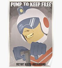 Pump to Keep Free Poster