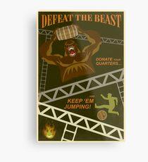 Defeat the Beast Metal Print