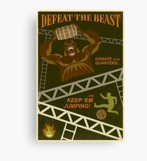 Defeat the Beast Canvas Print