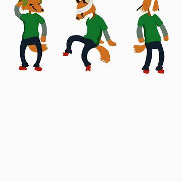 hear no - see no - speak no Fox by idawgness