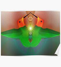 Tut53SMO#26:  Hummingbirds in Love (G1112) Poster