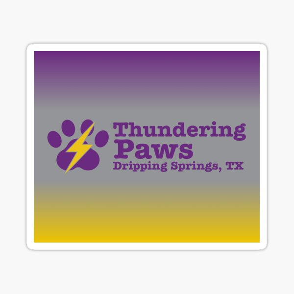Thundering Paws Rectangular Logo with Gradient  Sticker