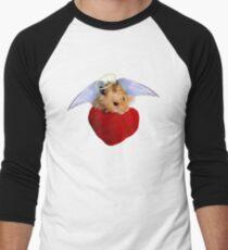 Angel Hamster with Heart Men's Baseball ¾ T-Shirt