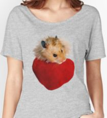 Hamster with Heart Women's Relaxed Fit T-Shirt