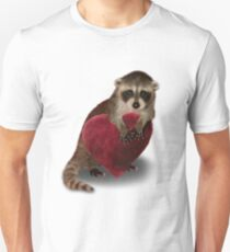 Raccoon with Heart T-Shirt