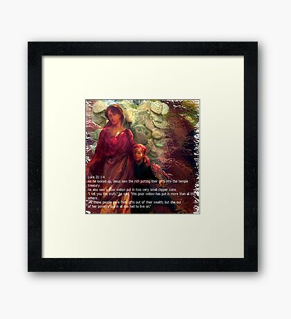 Widows Mite Framed Print