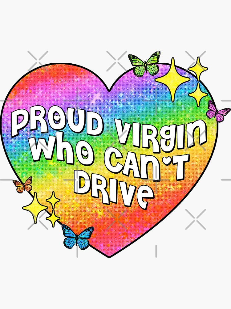 stolze Jungfrau, die nicht fahren kann von discostickers