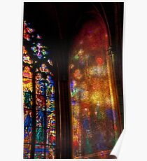 Stained Glass Reflections Poster