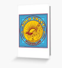 GOLDCOAST, QUEENSLAND, SURFING Greeting Card