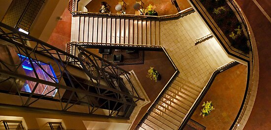 Elevator And Stairs by phil decocco