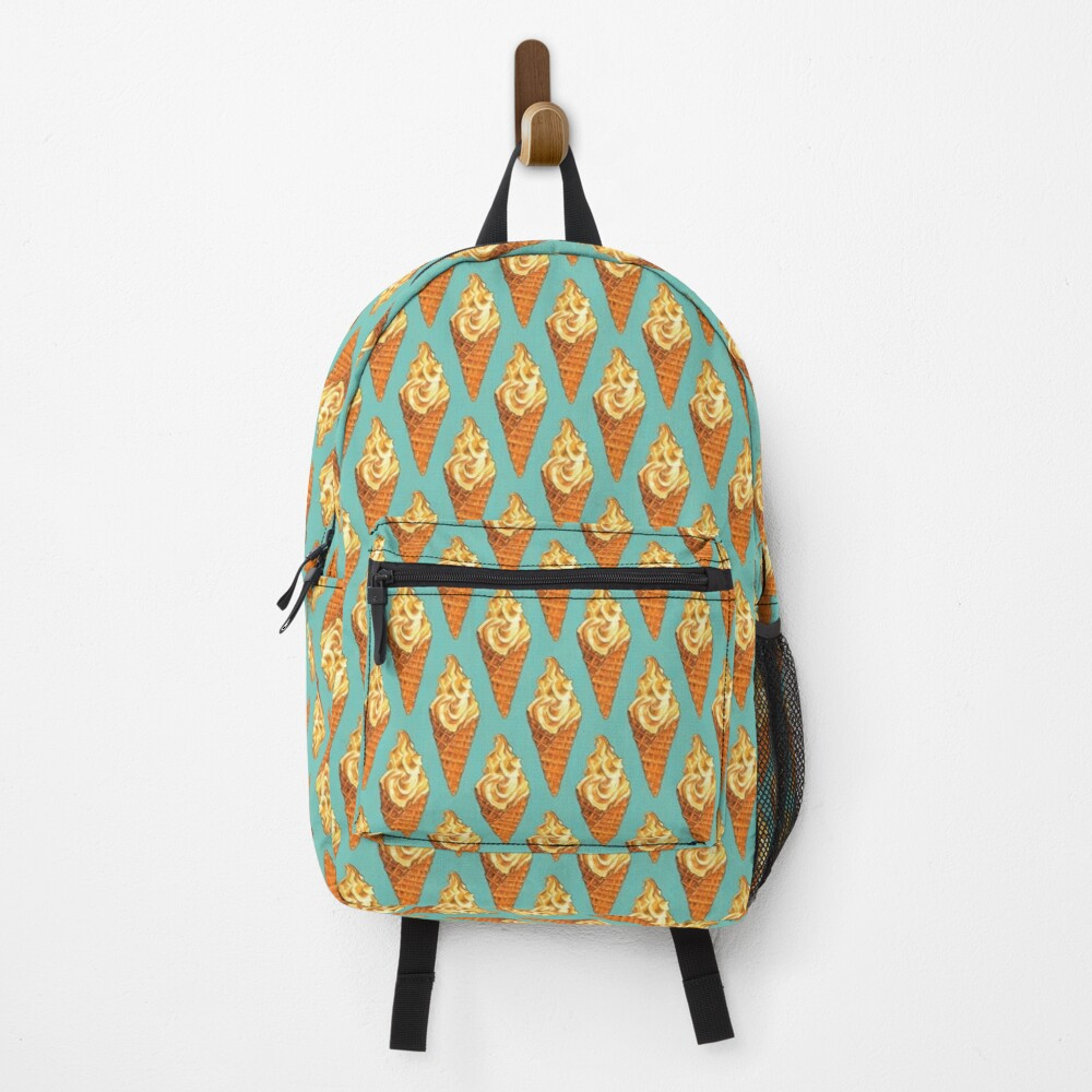 Vanilla Soft Serve Pattern Backpack