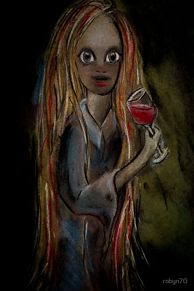 Girls drinking wine by robyn70