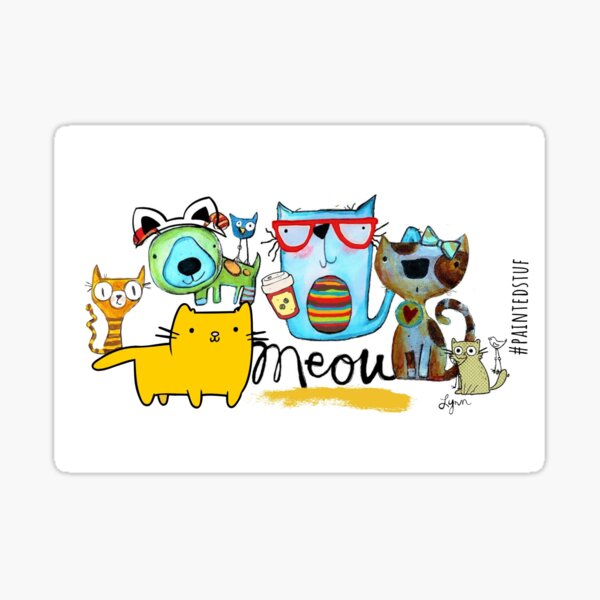 Whiskers and Tails Sticker