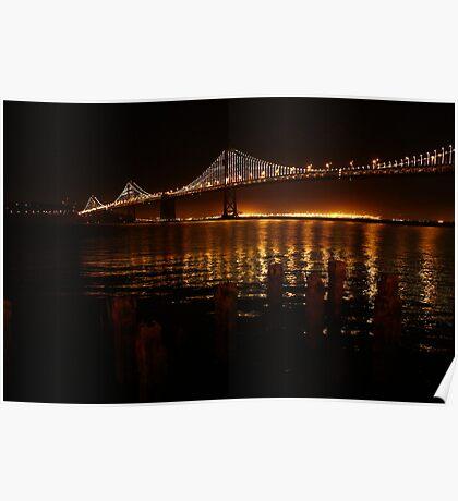 San Francisco Bay Bridge - The Bay Lights Poster
