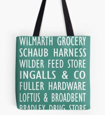 Laura Ingalls Wilder - Green Train Station Scroll - Old World De Smet, SD Tote Bag