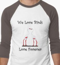 Birds In Love T shirt Special  Men's Baseball ¾ T-Shirt