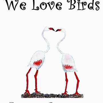 Birds In Love T shirt Special  by NikunjVasoya