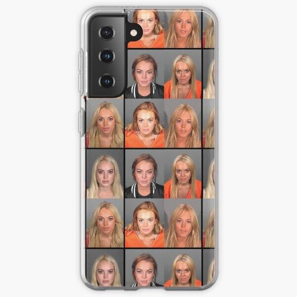 LINDSAY LOHAN MUGSHOTS Samsung Galaxy Soft Case