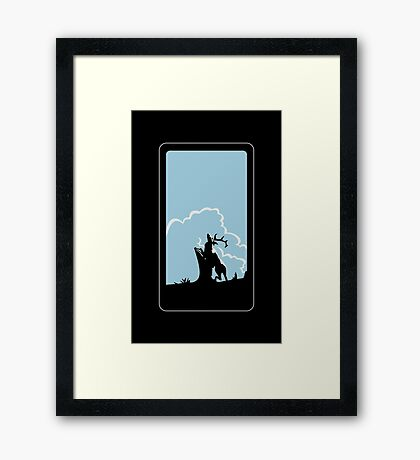 The Deer VRS2 Framed Print