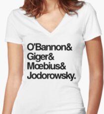 Jodorowskys Düne - O'Bannon, Giger, Moebius und Jodorowski Tailliertes T-Shirt mit V-Ausschnitt