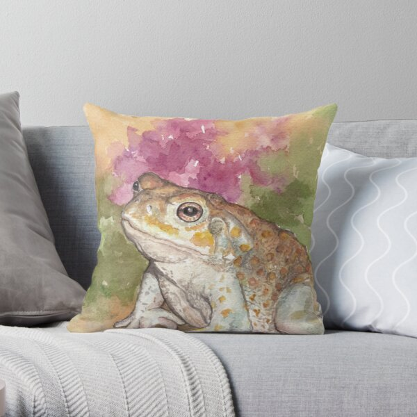 Sonoran Desert Toad Throw Pillow