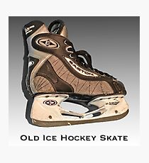 Old Ice Hockey Skate Photographic Print