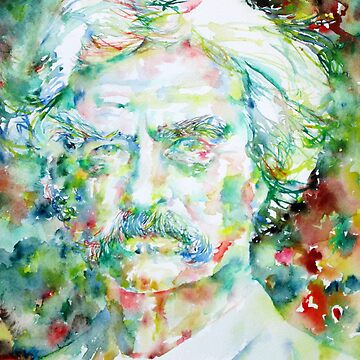 MARK TWAIN - watercolor portrait by lautir