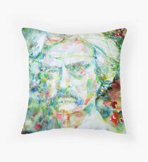 MARK TWAIN - watercolor portrait Throw Pillow