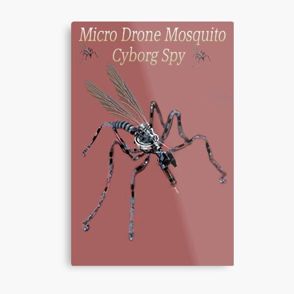 ✾◕‿◕✾ MICRO DRONE MOSQUITO CYBORG SPY WITH ON BOARD RFID NANOTECH✾◕‿◕✾ Metal Print