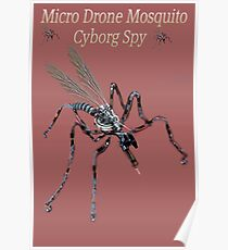 ✾◕‿◕✾ MICRO DRONE MOSQUITO CYBORG SPY WITH ON BOARD RFID NANOTECH✾◕‿◕✾ Poster