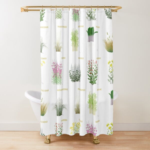 Respect Indigenous Plants Shower Curtain