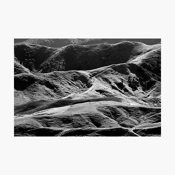 New Zealand's Hilly Farmland Photographic Print