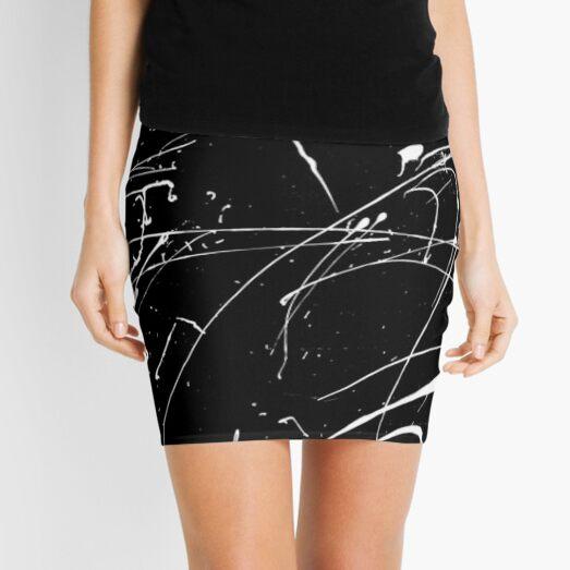 MONOCHROME MINIMALISM SPLATTER ABSTRACT PATTERN Mini Skirt