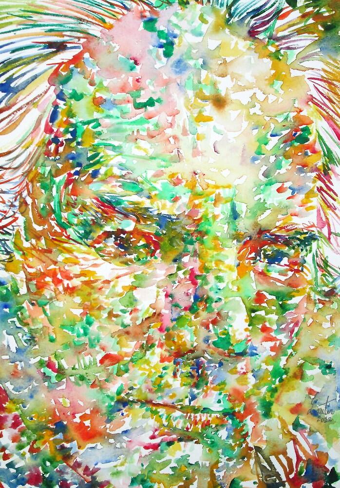 THOMAS BERNHARD / watercolor portrait by lautir
