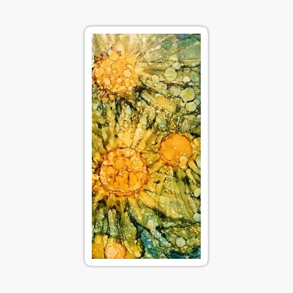 Sunflower Abstract Sticker