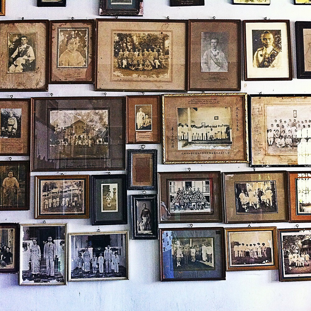 A wall of ancestors, at Chinpracha House, Phuket Thailand by phuketstagram