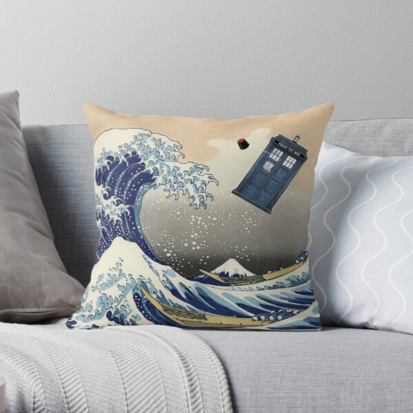 TARDIS en Kanagawa Cojín