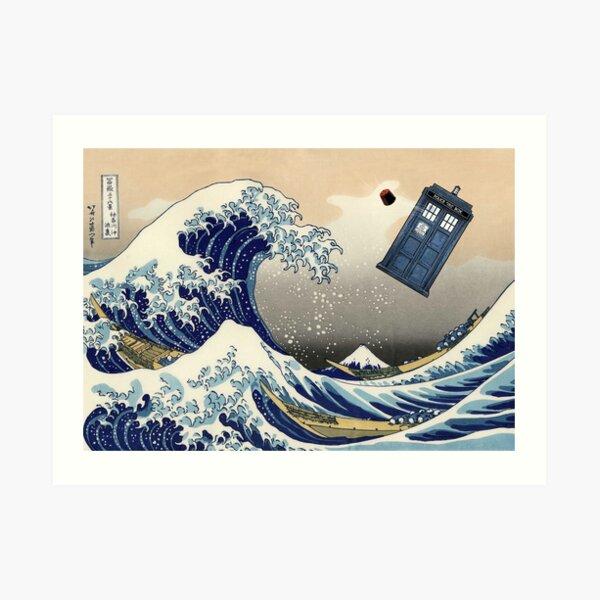 TARDIS at Kanagawa Art Print
