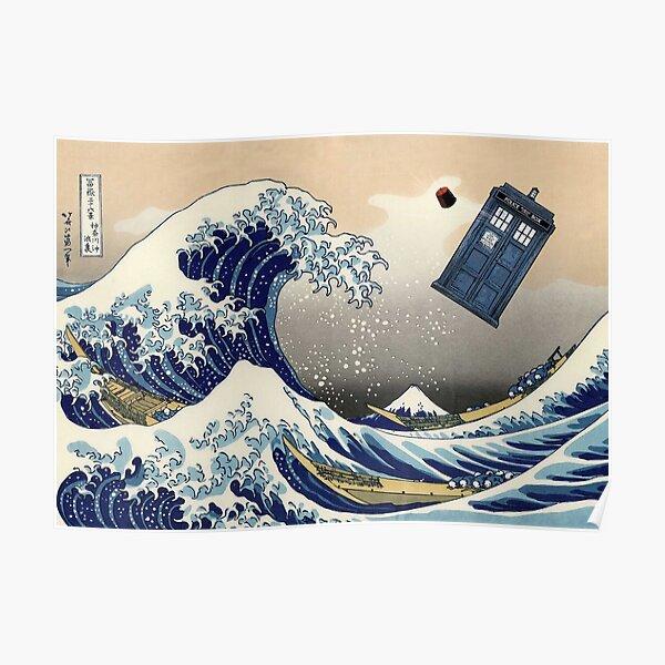 TARDIS at Kanagawa Poster