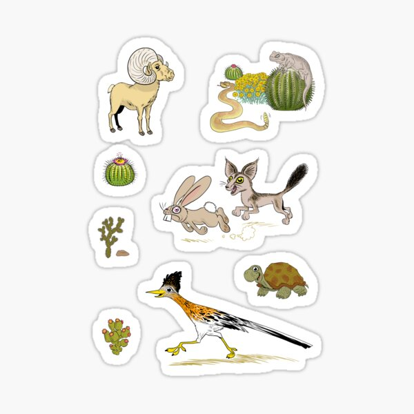 Palm Springs Critters Sticker