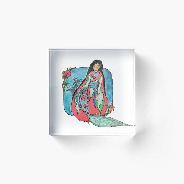 A Mermaid's Mid Summer's Dream Acrylic Block