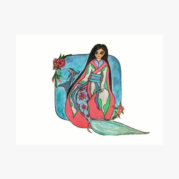 A Mermaid's Mid Summer's Dream Art Print