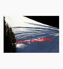 The Snow Fence Photographic Print