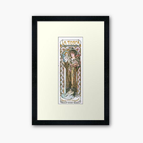 Poster de La Tosca con Sarah Bernhardt Lámina enmarcada