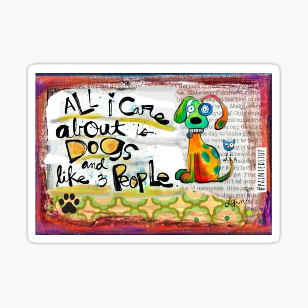 Dogs and 3 People Sticker